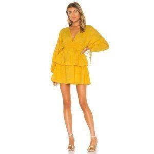 Tularosa Womens Marvista Dress Yellow XL NWT
